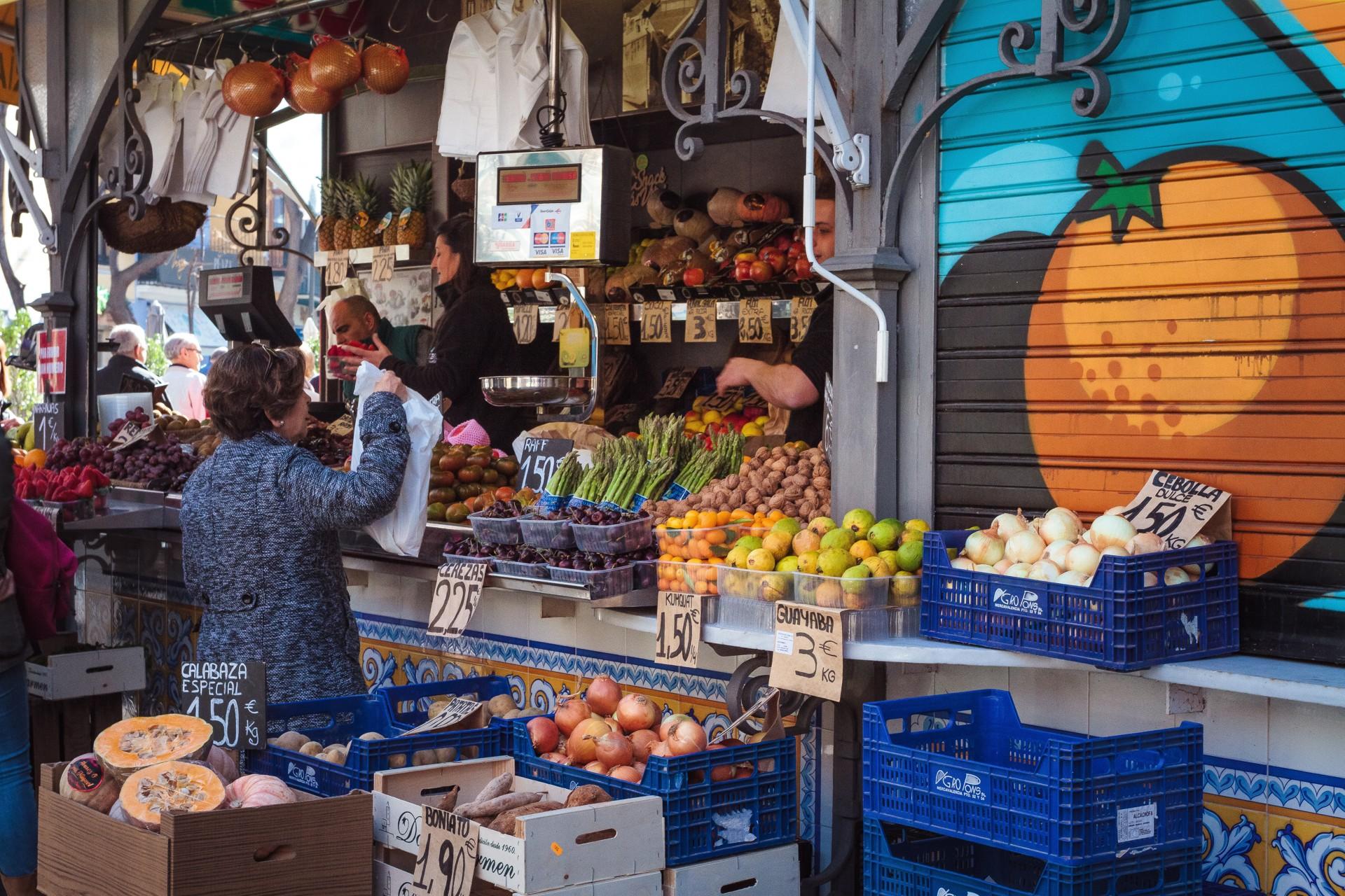 Groentenmarkt Valencia