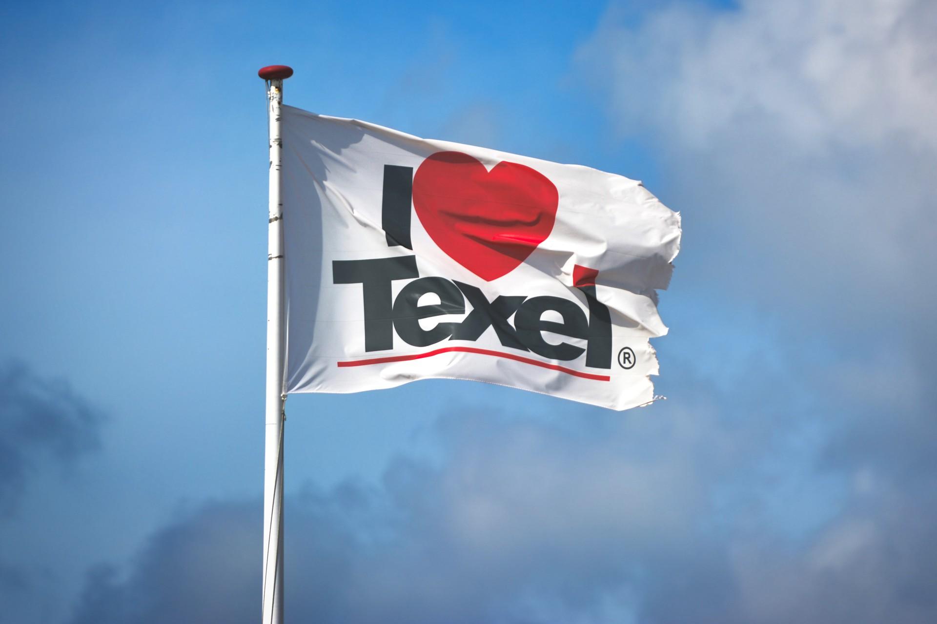 Vlag I love Texel Waddeneilanden